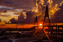 Sunrise Over Bangkok Royalty Free Stock Image