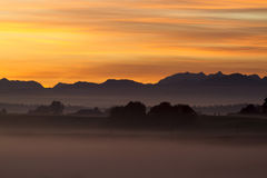 Sunrise over the bavarian alps, Germany Stock Image