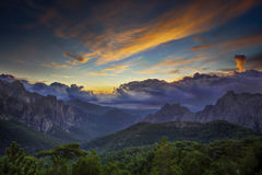 Sunrise over Bavella mountain Stock Photos
