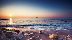 Sunrise over the beach stock video