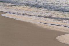 Sunrise. Over the beach on Caribbean Sea Stock Image