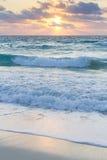 Sunrise. Over the beach on Caribbean Sea Royalty Free Stock Photography