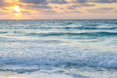 Sunrise. Over the beach on Caribbean Sea royalty free stock images