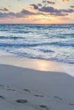 Sunrise. Over the beach on Caribbean Sea Stock Photo