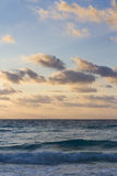 Sunrise. Over the beach on Caribbean Sea Royalty Free Stock Photos