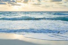 Sunrise. Over the beach on Caribbean Sea Stock Photography