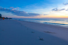 Sunrise over on the beach Royalty Free Stock Image