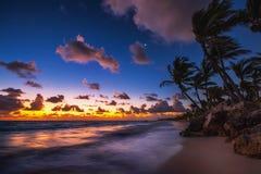 Sunrise over the beach. Punta Cana Stock Images