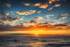Sunrise over the beach. Punta Cana Stock Photos