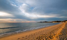 Sunrise over beach in San Jose Del Cabo in Baja California Mexico. BCS Royalty Free Stock Images