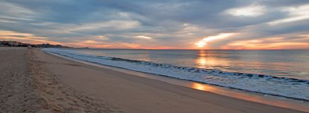 Sunrise over beach in San Jose Del Cabo in Baja California Mexico Royalty Free Stock Photos