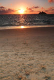 Sunrise over a beautiful white sand beach Stock Image