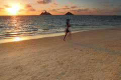 Sunrise over a beautiful white sand beach Stock Photography