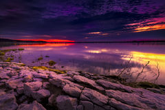 Sunrise over Benbrook Lake Royalty Free Stock Photo