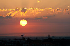 Sunrise over Berlin Royalty Free Stock Images