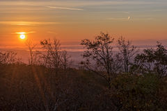 Sunrise Over Black Mountain Royalty Free Stock Photography