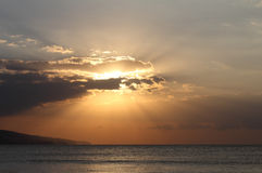 Sunrise over the Black Sea. Coast of Bulgaria Royalty Free Stock Image