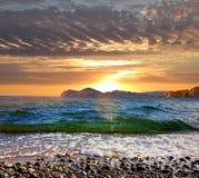 Sunrise over the Black Sea, Eastern Crimea stock image