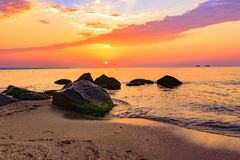 Sunrise over the Black Sea. royalty free stock photos