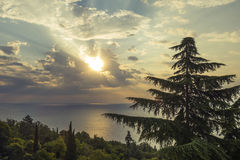 Sunrise over the Black sea Royalty Free Stock Photography
