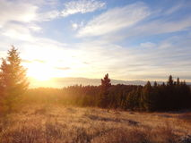 Sunrise over Blanchard Creek Stock Photography