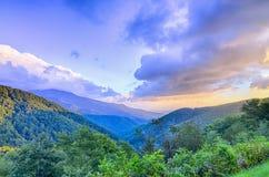 Sunrise over Blue Mountains Scenic Overlook Stock Photos