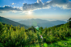 Sunrise over Blue Ridge Mountains Royalty Free Stock Photography