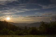 Sunrise over the Blue ridge mountains Stock Images