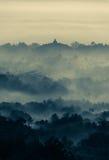 Sunrise over Borobudur Buddhist Temple Royalty Free Stock Photos
