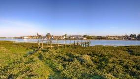 Sunrise over Bosham harbour and village, West Sussex, UK royalty free stock image