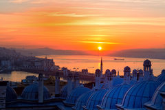 Sunrise over Bosphorus Royalty Free Stock Photo