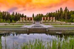 Sunrise Over The Botanical Gardens stock image