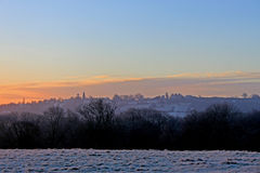 Sunrise over Bradford Stock Photo
