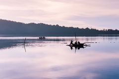 Sunrise over Bratan lake, Bali stock photos