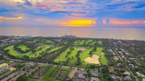 The Breakers Hotel at Dawn. Sunrise over The Breakers Hotel in Palm Beach Florida stock photography