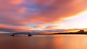 Sunrise over the Bridge to Nowhere Royalty Free Stock Images