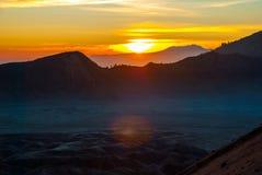 Sunrise over Bromo mountain, Java, Indonesia Stock Images