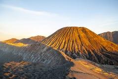 Sunrise over Bromo mountain, Java, Indonesia Stock Photos