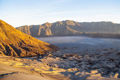 Sunrise over Bromo mountain, Java, Indonesia Royalty Free Stock Images