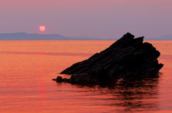 Sunrise over calm Aegean sea Royalty Free Stock Photography