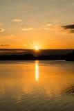 Sunrise Over Calm Lake B Stock Photo