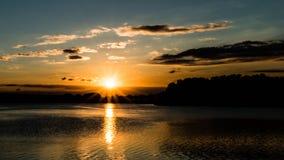 Sunrise Over Calm Lake C Stock Images