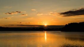 Sunrise Over Calm Lake A Stock Images