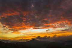 Sunrise Cameron highlands Malaysia Royalty Free Stock Photos