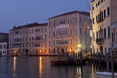 Sunrise over the canal grande Royalty Free Stock Photo
