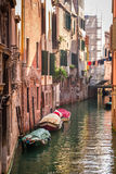 Sunrise over a canal in Venice Royalty Free Stock Photography