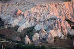 The sunrise over Cappadocia Stock Photography