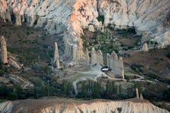 The sunrise over Cappadocia. Royalty Free Stock Photo
