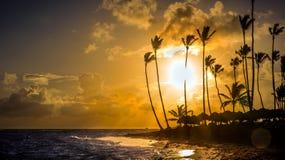 Sunrise over Caribbean sea Stock Images