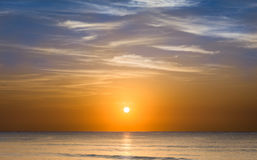 Sunrise over caribbean sea Royalty Free Stock Photography